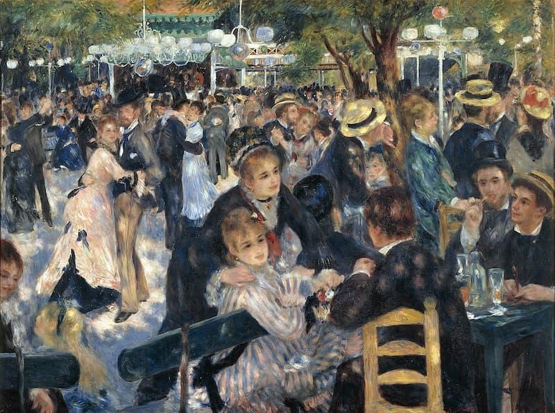 Impressionnisme Auguste Renoir bal du moulin de la galette