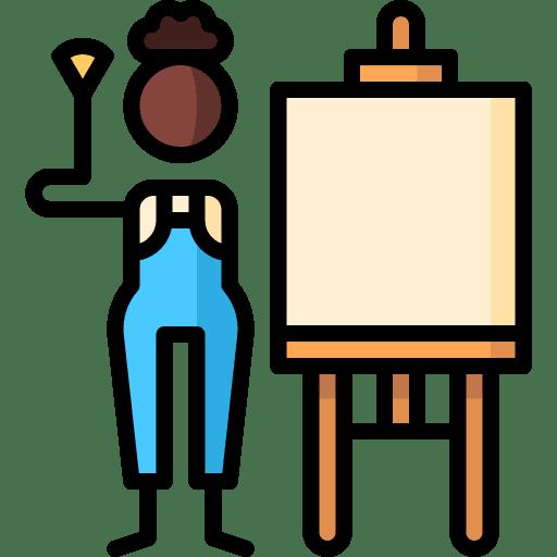 icon peintre et son chevalet
