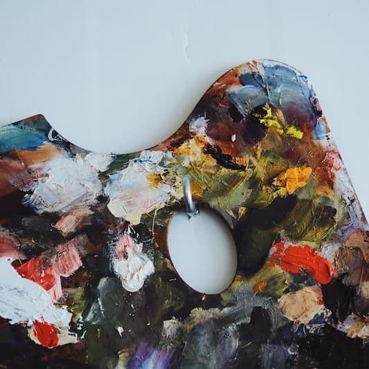 image ambiance peinture, palette