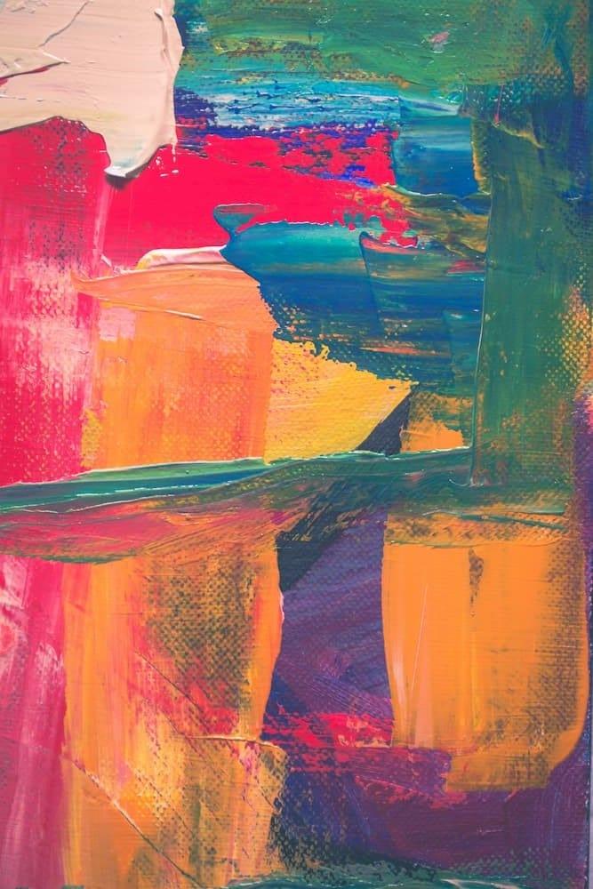 image art figuratif, une peinture, des aplats de couleurs, pour symboliser l'oeuvre d'art