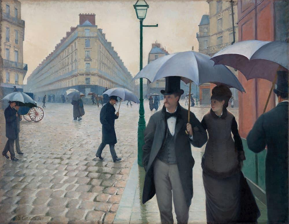 Rue de Paris, temps de pluis Gustave Caillebotte 1877