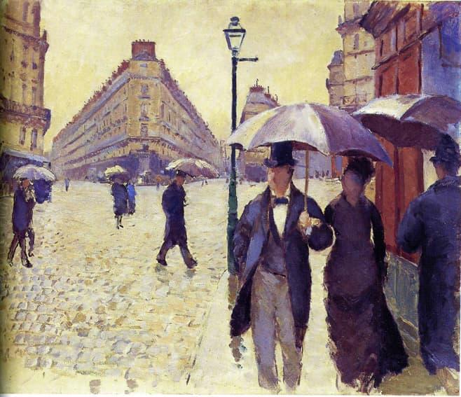 rue de paris temps de pluie esquisse